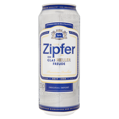 Kép Zipfer világos sör 5,4% 0,5 l