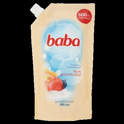 Kép Baba tej és gyümölcsillat folyékony krémszappan utántöltő 500 ml