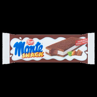 Kép Zott Monte Snack tejes, csokoládés-mogyorós krémmel töltött sütemény 29 g