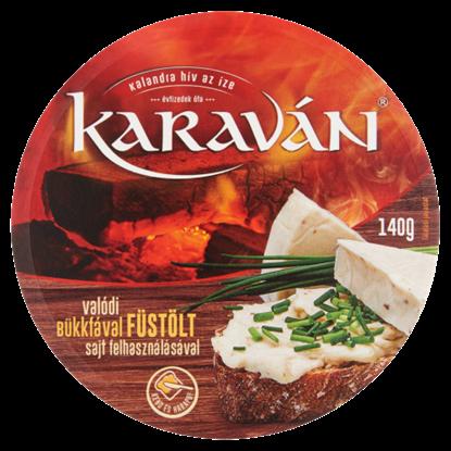Kép Karaván füstölt ízű, kenhető, zsíros, ömlesztett sajt 8 db 140 g