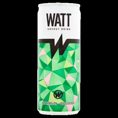 Kép Watt koffein és vitamintartalmú görögdinnye-egres ízű szénsavas energiaital 0,25 l