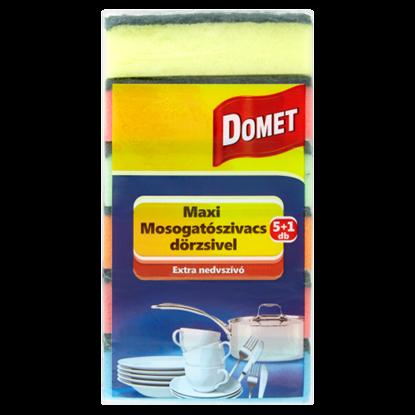 Kép Domet maxi mosogatószivacs dörzsivel 5+1 db