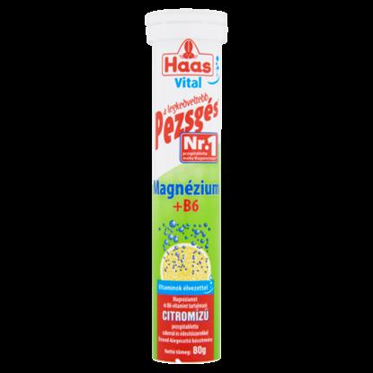 Kép Haas Vital magnézium + B6 citromízű étrend-kiegészítő pezsgőtabletta 80 g