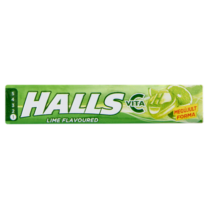 Kép Halls Vita-C lime ízű keménycukorka C-vitaminnal 33,5 g