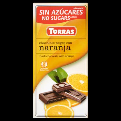 Kép Torras narancsos étcsokoládé édesítőszerrel 75 g