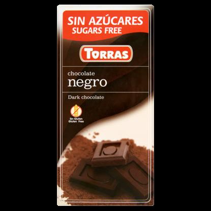 Kép Torras étcsokoládé hozzáadott cukor nélkül, édesítőszerrel 75 g