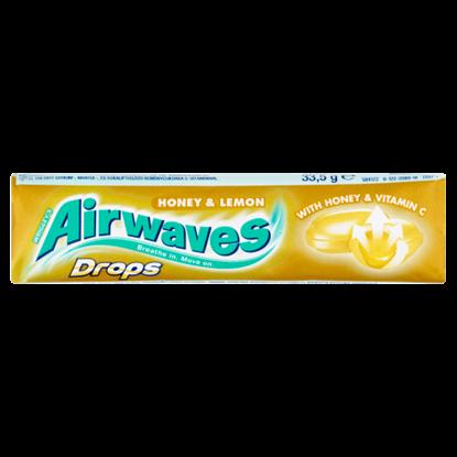 Kép Airwaves Drops Honey & Lemon mézzel töltött citrom-, mentol- és eukaliptuszízű keménycukorka 33,5 g