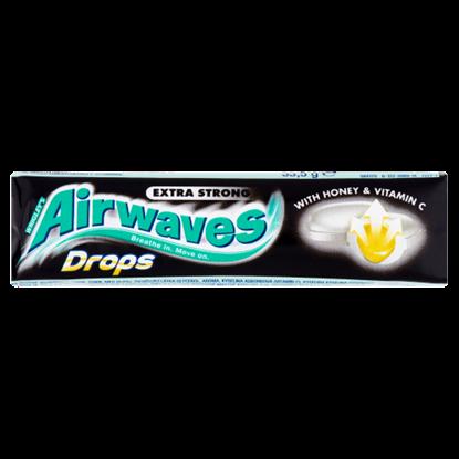 Kép Airwaves Drops Extra Strong mézzel töltött mentol-, eukaliptuszízű keménycukorka C-vitaminnal 33,5 g