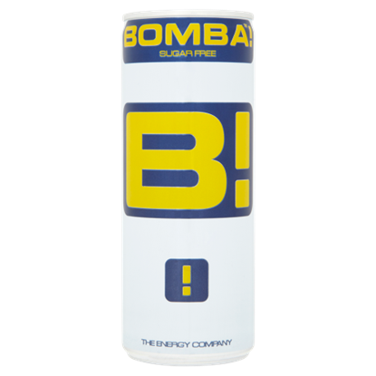 Kép BOMBA! magas koffeintartalmú, tutti-frutti ízű cukormentes szénsavas ital édesítőszerrel 250 ml