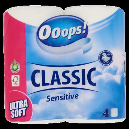 Kép Ooops! Classic Sensitive toalettpapír 3 rétegű 4 tekercs