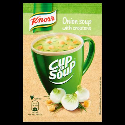 Kép Knorr Cup a Soup hagymakrémleves zsemlekockával 17 g