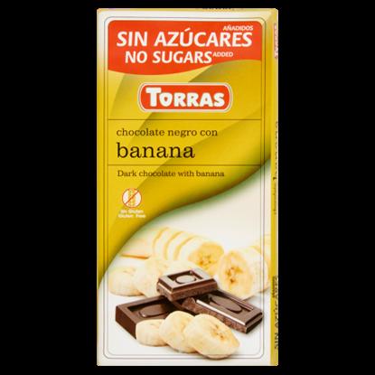 Kép Torras banános étcsokoládé édesítőszerrel 75 g