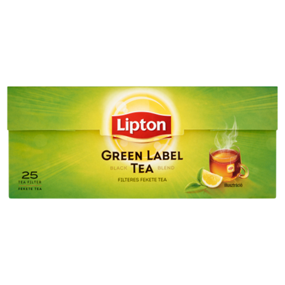 Kép Lipton Green Label fekete tea 25 filter