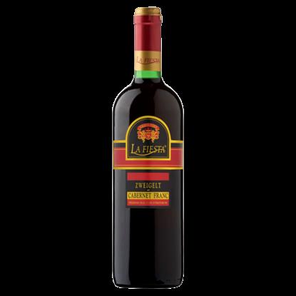 Kép La Fiesta Duna-Tisza közi Zweigelt-Cabernet Franc félédes magyar vörösbor 10,5% 750 ml