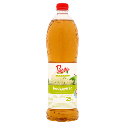 Kép Pölöskei bodzavirág ízű szörp cukorral és édesítőszerrel 1 l