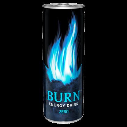 Kép Burn Zero szénsavas kalóriamentes vegyesgyümölcs ízű ital koffeinnel 250 ml