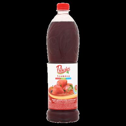 Kép Pölöskei vegyes gyümölcsszörp szamóca ízzel cukorral és édesítőszerrel 1 l
