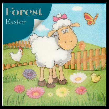 Kép Forest Easter szalvéta 1 rétegű 33 x 33 cm 20 db