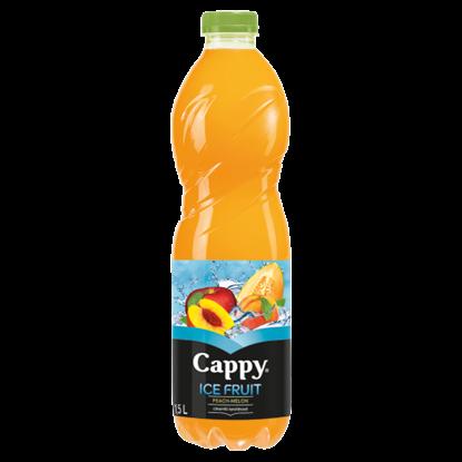 Kép Cappy Ice Fruit Peach-Melon szénsavmentes alma-őszibarack-sárgadinnye ital citromfű ízzel 1,5 l