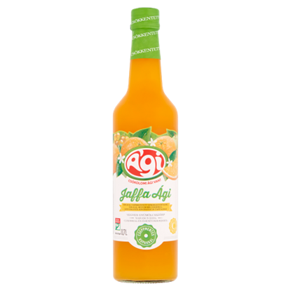 Kép Ági Jaffa Ági vegyes gyümölcsszörp narancs ízzel, cukorral és édesítőszerekkel 0,7 l