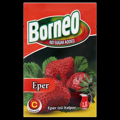 Kép Borneo eper ízű italpor hozzáadott cukor nélkül, édesítőszerrel 9 g
