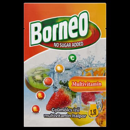 Kép Borneo gyümölcs ízű multivitamin italpor hozzáadott cukor nélkül, édesítőszerrel 9 g
