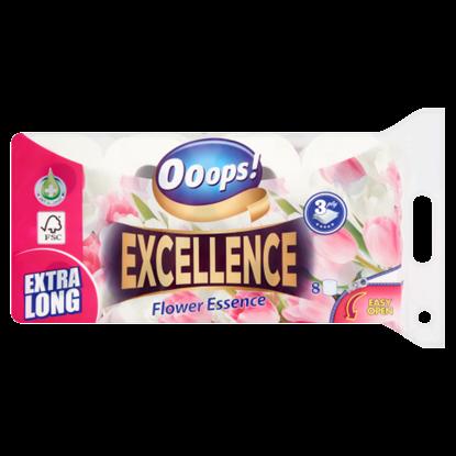 Kép Ooops! Excellence Flower Essence toalettpapír 3 rétegű 8 tekercs