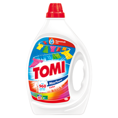 Kép Tomi Max Power Color mosószer 40 mosás 2 l
