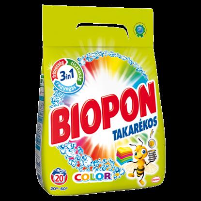 Kép Biopon Takarékos Color mosószer por színes ruhákhoz 20 mosás 1,4 kg