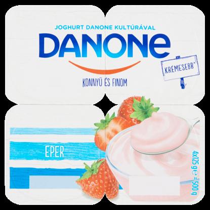 Kép Danone eperízű, élőflórás, zsírszegény joghurt 4 x 125 g