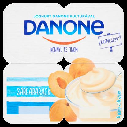 Kép Danone sárgabarackízű, élőflórás, zsírszegény joghurt 4 x 125 g