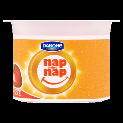 Kép Danone Nap Mint Nap élő joghurtkultúrát tartalmazó, eperízű fermentált élelmiszerkészítmény 110 g