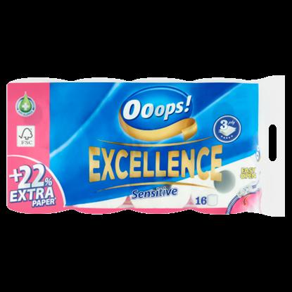 Kép Ooops! Excellence Sensitive toalettpapír 3 rétegű 16 tekercs