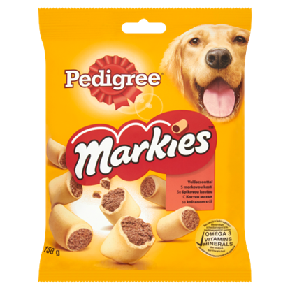 Kép Pedigree Markies kiegészítő állateledel felnőtt kutyák számára velőscsonttal 150 g