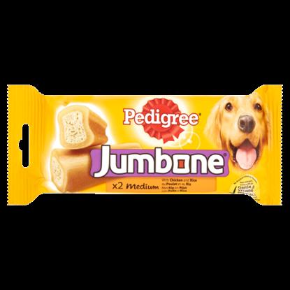 Kép Pedigree Jumbone Medium kiegészítő állateledel csirkével és rizzsel felnőtt kutyáknak 2 db 200 g