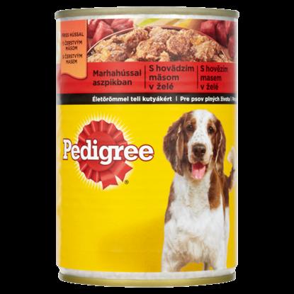 Kép Pedigree teljes értékű állateledel felnőtt kutyák számára marhahússal aszpikban 400 g