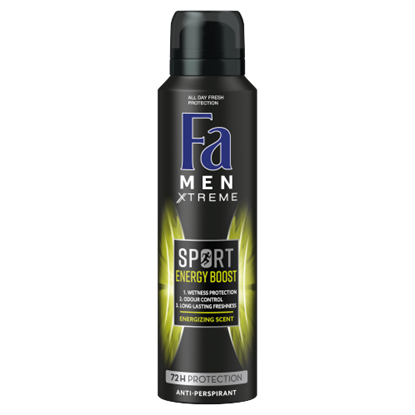 Kép Fa Men Xtreme Sport Energy Boost izzadásgátló deospray 150 ml