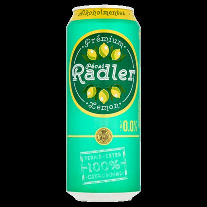 Kép Pécsi Radler Prémium alkoholmentes világos sör és citrom ízű szénsavas üdítőital keverék 0,5 l