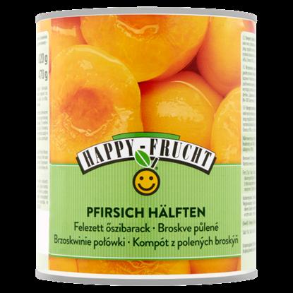 Kép Happy Frucht hámozott, felezett őszibarack befőtt 820 g