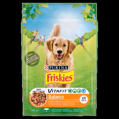 Kép Friskies Vitafit Balance teljes értékű állateledel felnőtt kutyáknak csirkével és zöldségekkel 500 g