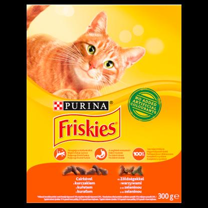 Kép Friskies teljes értékű állateledel felnőtt macskák számára csirkével és zöldségekkel 300 g