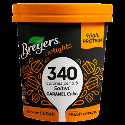 Kép Breyers sós karamell ízű jégkrém sütemény darabkákkal 500 ml