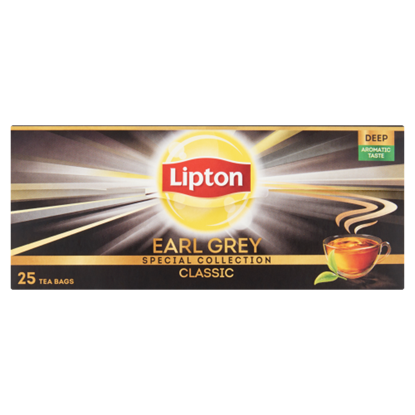 Kép Lipton Earl Grey bergamot ízesítésű fekete tea 25 filter