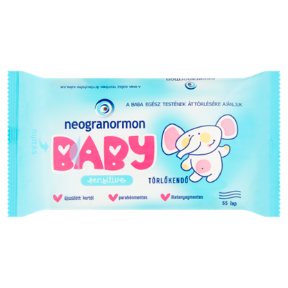 Kép Neogranormon Baby Sensitive törlőkendő 55 db