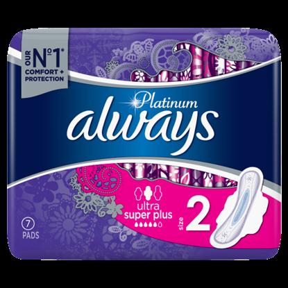 Kép Always Platinum Long Szárnyas Egészségügyi Betét (2-as Méret), 7 db