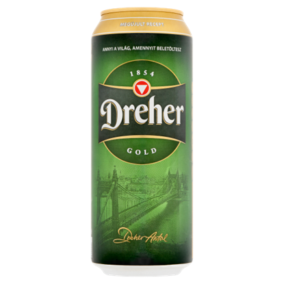 Kép Dreher Gold világos sör 5% 0,5 l