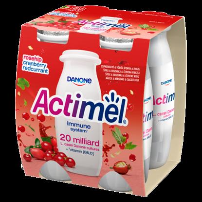 Kép Danone Actimel zsírszegény, élőflórás, csipkebogyó-, vörös áfonya-, ribizliízű joghurtital 4 x 100 g