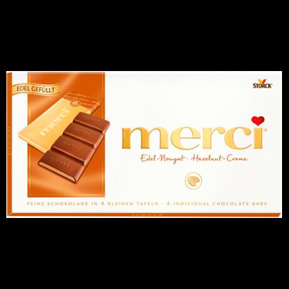 Kép Merci mogyorókrémes táblás csokoládé 112 g