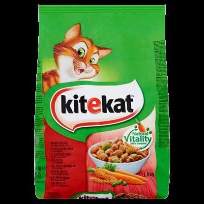 Kép Kitekat teljes értékű állateledel felnőtt macskák számára marhával és zöldségekkel 1,8 kg