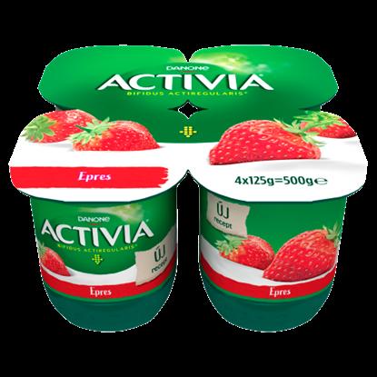 Kép Danone Activia élőflórás, zsírszegény epres joghurt 4 x 125 g
